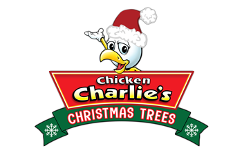 Chicken Charlie's Christmas Trees logo top